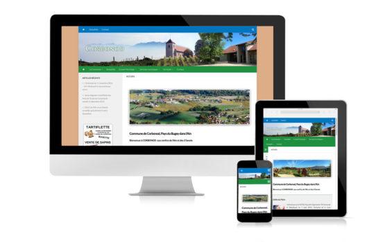 Site Mairie Corbonod responsive design