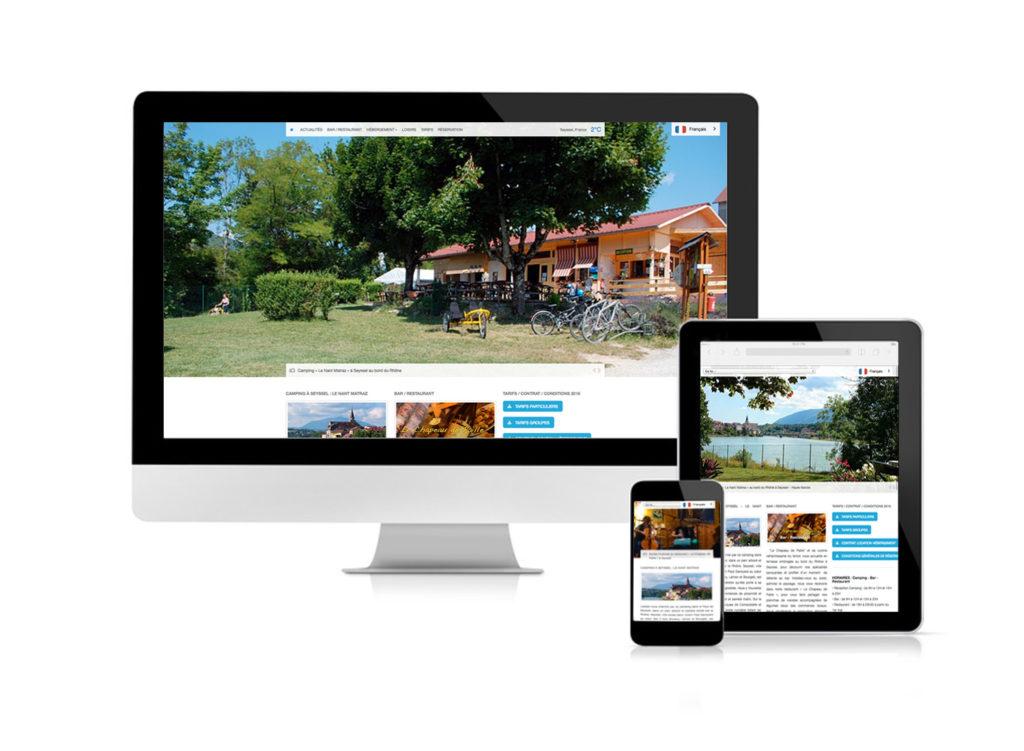 Camping Seyssel site web adaptatif